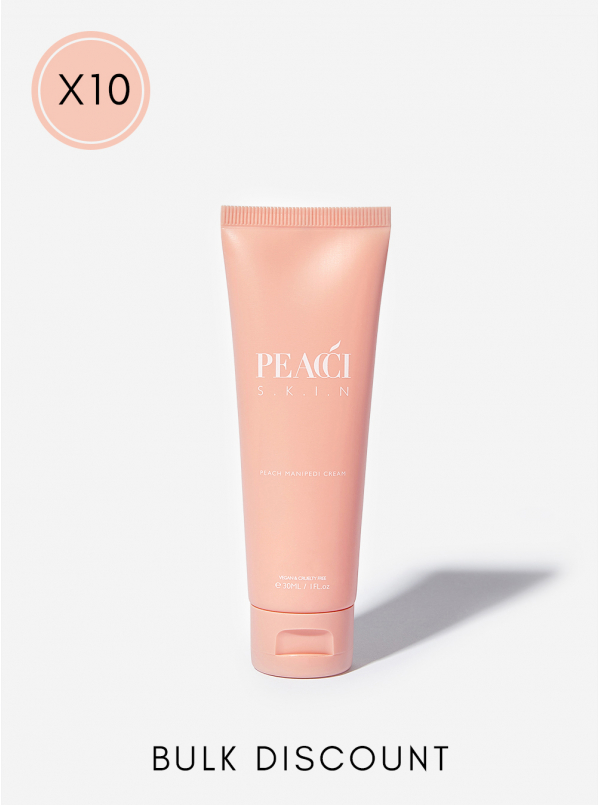 10x Peach ManiPedi Cream